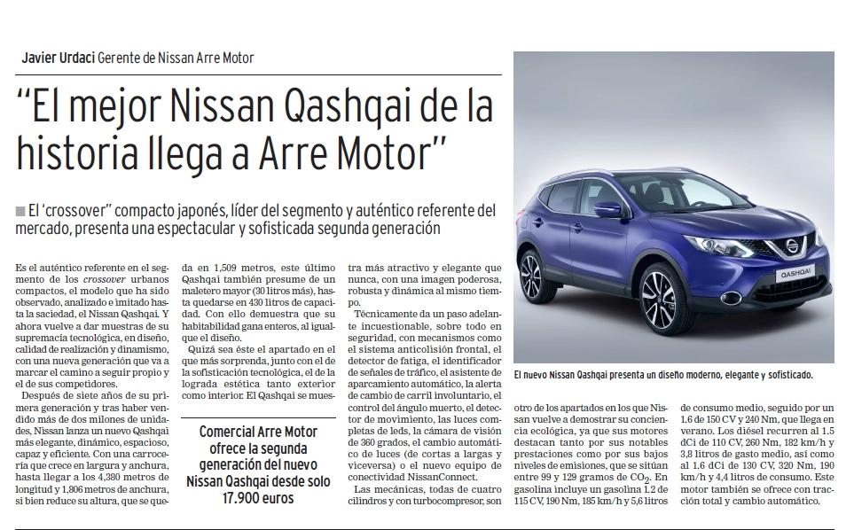 Nuevo nissan qashqai diario de noticias